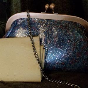 Handbags - Custom Embossed Leather Satchel/Lg Clutch
